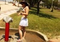 Santos reduz em cerca de 50% consumo de água nos chuveirinhos